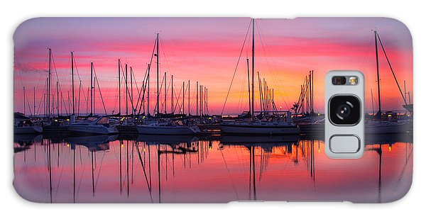 Bayfield Wisconsin Magical Morning Sunrise Galaxy Case