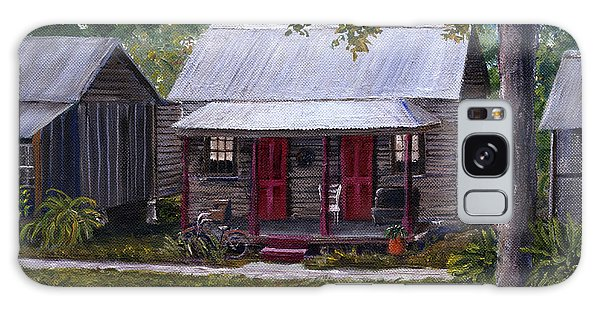 Bayou Cabins Art Breaux Bridge Louisiana Galaxy Case