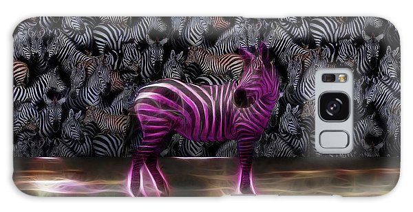 Be Courageous - Be Different - Zebra Galaxy Case