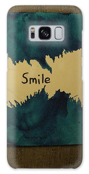 Be Happy In A Stormy Sea Galaxy Case by Lawrence Christopher