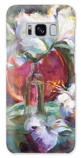 Be Still - Casablanca Lilies With Copper Galaxy Case