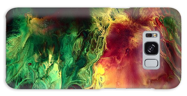 Be Together - Red Green Abstract Art By Kredart Galaxy Case