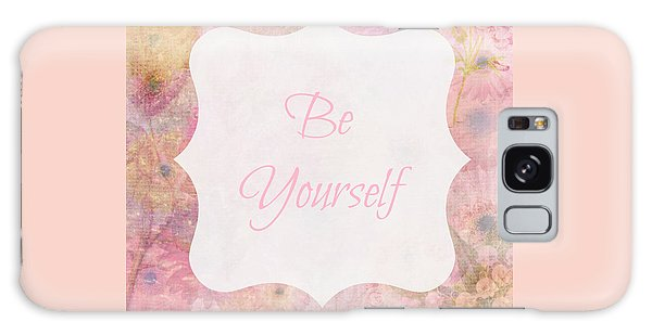 Be Yourself Daisies Galaxy Case