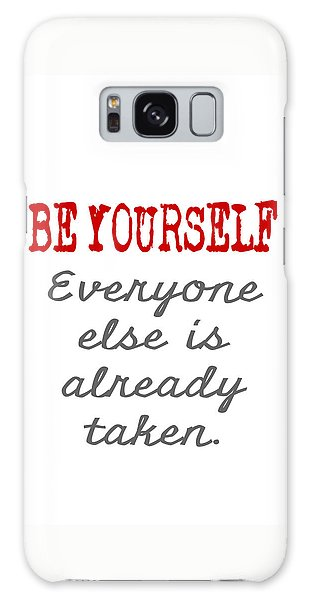 Be Yourself Oscar Wilde Quote Galaxy Case by Nik Helbig