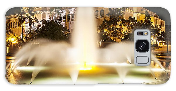 Bea Evenson Fountain At Night Galaxy Case