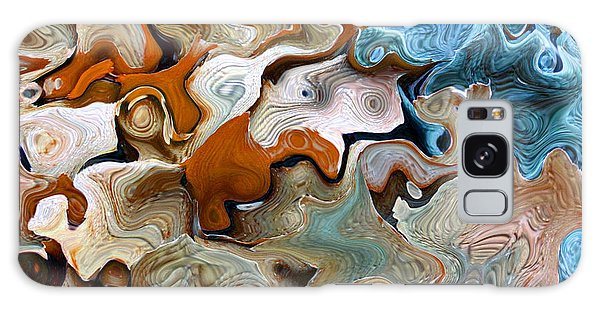 Beach Abstract Art Galaxy Case by Annie Zeno