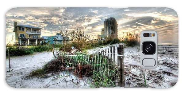 Beach And Buildings Galaxy Case