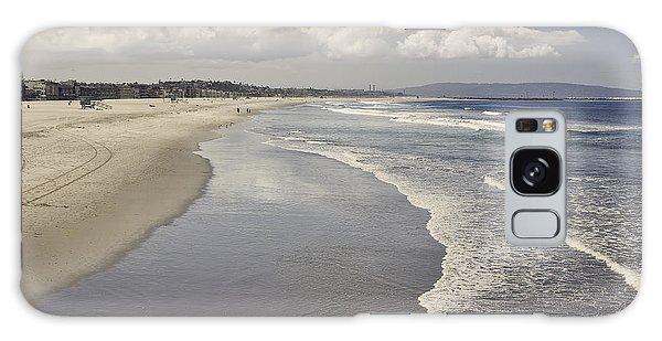 Beach At Santa Monica Galaxy Case