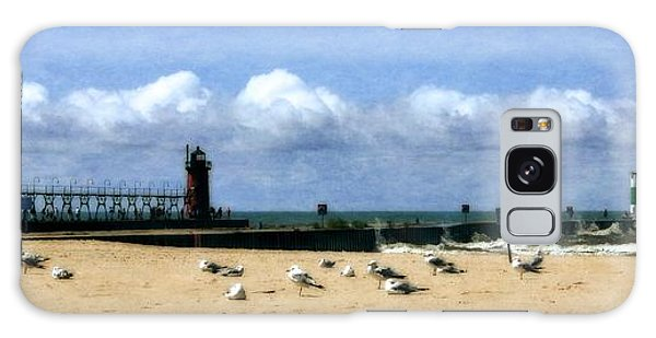 Catwalk Galaxy S8 Case - Beach At South Haven  by Michelle Calkins
