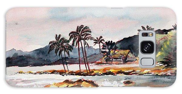 Beach At Waikiki Galaxy Case