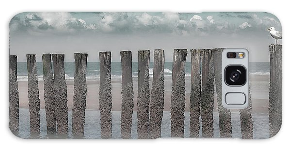 Seagulls Galaxy Case - Beach Bars by Bernardine De Laat