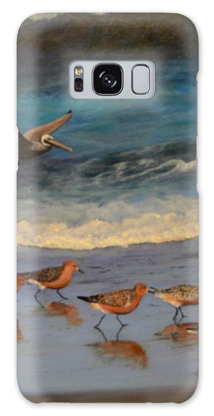 Beach Birds Galaxy Case