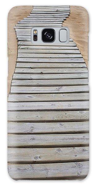 Beach Boardwalk Galaxy Case by Randy Pollard