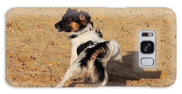 Beach Dog Pose Galaxy Case
