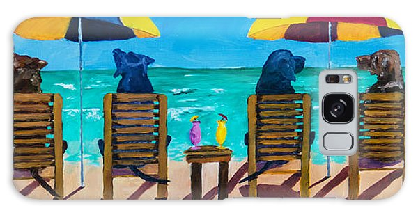 Chocolate Lab Galaxy Case - Beach Dogs by Roger Wedegis