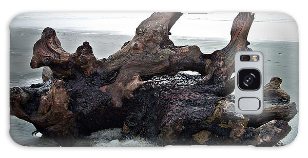 Beach Driftwood In Color Galaxy Case