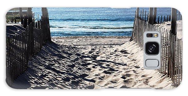Beach Entry Galaxy Case by John Rizzuto