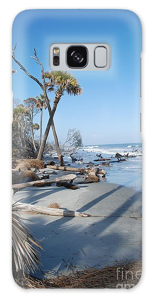 Beach Erosion Galaxy Case by Kathy Gibbons