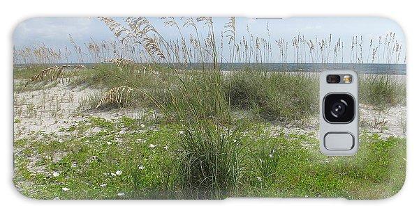 Beach Flowers And Oats 2 Galaxy Case by Ellen Meakin