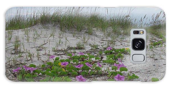 Beach Flowers Galaxy Case by Ellen Meakin