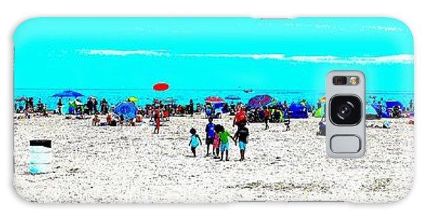 Beach Fun Frisbee Galaxy Case