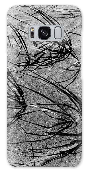 Beach Grass Black And White Galaxy Case