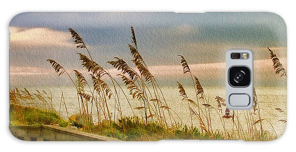 Beach Grass Galaxy Case by Deborah Benoit