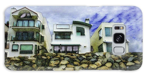 Beach Houses In Oceanside Galaxy Case