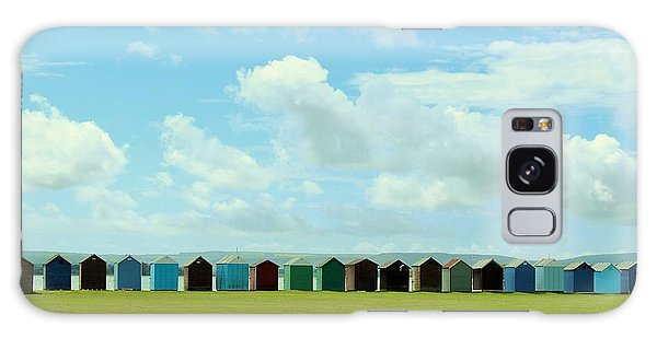 Beach Huts Galaxy Case