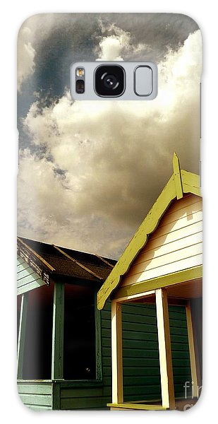 Beach Huts Galaxy Case by Vicki Spindler