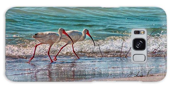 Beach Jogging In Twos Galaxy Case by Hanny Heim