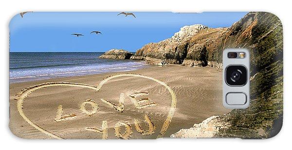 Beach Love Galaxy Case