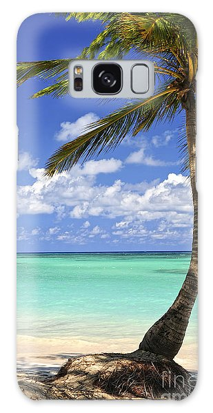 Beach Of A Tropical Island Galaxy Case