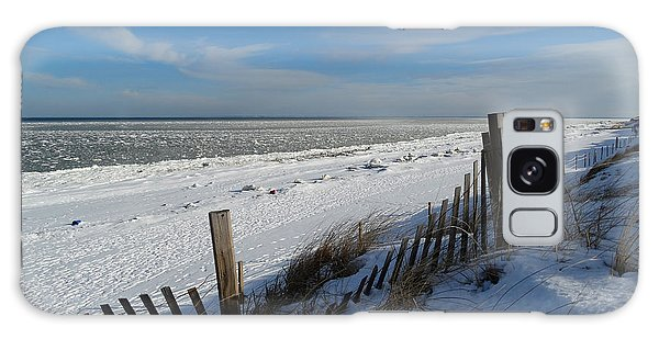 Beach On A Winter Morning Galaxy Case
