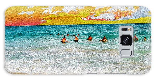 Galaxy Case - Beach Paint by Frank Savarese
