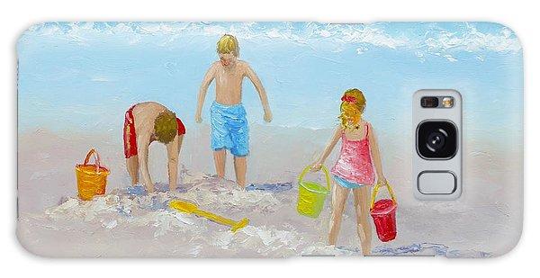 Beach Painting - Sandcastles Galaxy Case