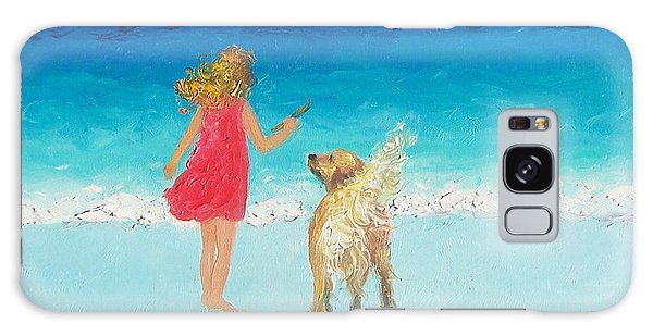 Beach Painting 'sunkissed Hair'  Galaxy Case