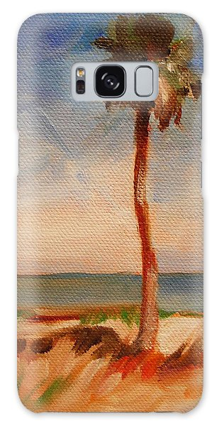 Beach Palm Tree Galaxy Case