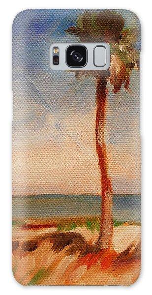 Beach Palm Tree Galaxy Case