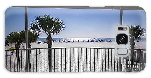 Galaxy Case featuring the photograph Beach Patio by Carolyn Marshall