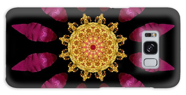 Beach Rose Iv Flower Mandala Galaxy Case
