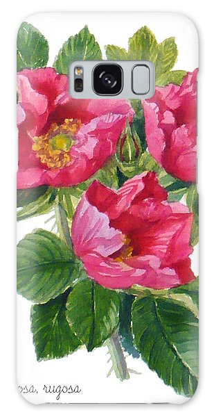 Beach Roses -  Rosa Rugosa Galaxy Case