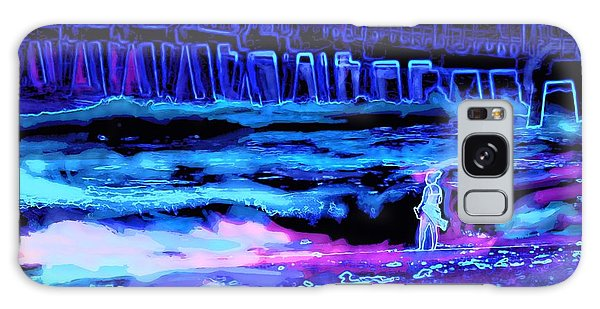 Beach Scene At Night Galaxy Case by David Mckinney