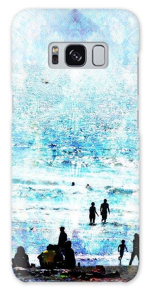 Beach Scene Expressions Galaxy Case