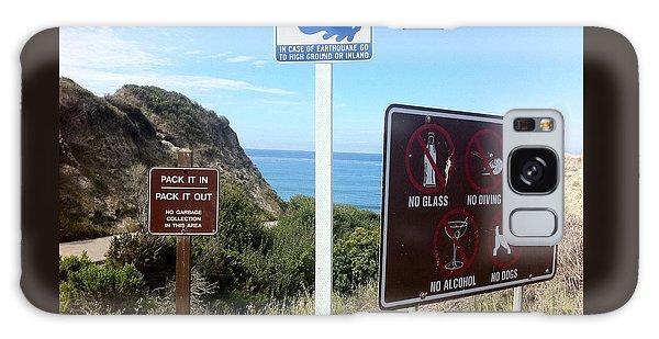 Beach Signs San Clemente Galaxy Case