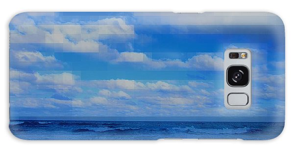 Beach Through Artificial Eyes Galaxy Case by David Mckinney