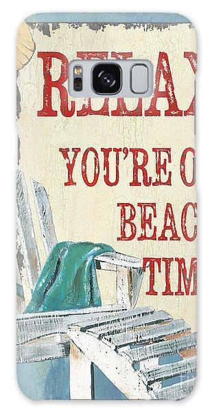 Adirondack Chair Galaxy Case - Beach Time 1 by Debbie DeWitt