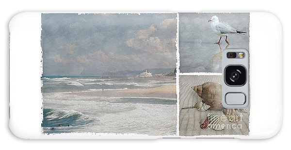 Beach Triptych 1 Galaxy Case