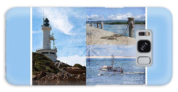 Beach Triptych 2 Galaxy Case by Linda Lees