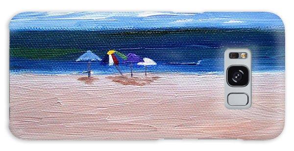 Beach Umbrellas Galaxy Case by Jamie Frier